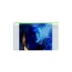 Blue Mask Cosmetic Bag (xs) by timelessartoncanvas