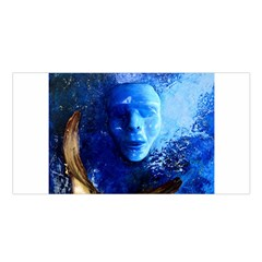 Blue Mask Satin Shawl by timelessartoncanvas
