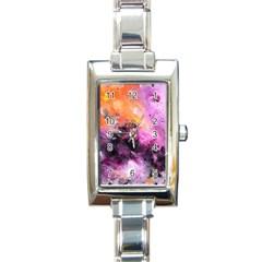 Nebula Rectangle Italian Charm Watches by timelessartoncanvas