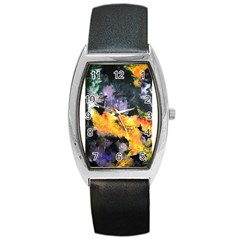 Space Odessy Barrel Metal Watches by timelessartoncanvas