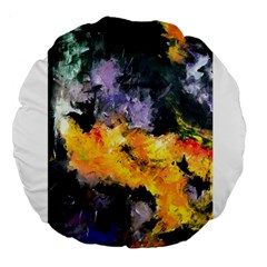 Space Odessy Large 18  Premium Round Cushions by timelessartoncanvas