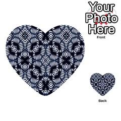 Futuristic Geometric Print  Multi Purpose Cards (heart)  by dflcprints