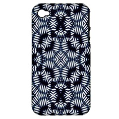 Futuristic Geometric Print  Apple Iphone 4/4s Hardshell Case (pc+silicone) by dflcprints
