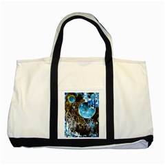 Space Horses Two Tone Tote Bag  by timelessartoncanvas