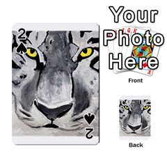 The Eye Of The Tiger Playing Cards 54 Designs  by timelessartoncanvas