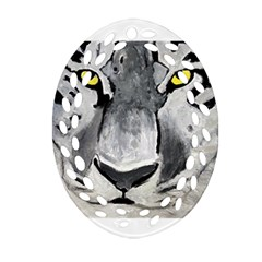 The Eye Of The Tiger Ornament (oval Filigree)  by timelessartoncanvas