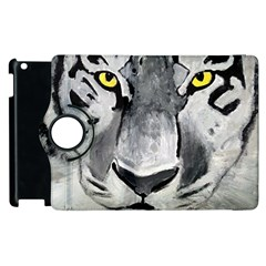 The Eye Of The Tiger Apple Ipad 3/4 Flip 360 Case by timelessartoncanvas