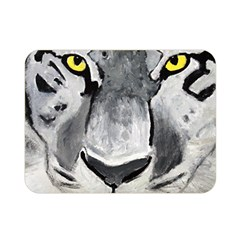 The Eye Of The Tiger Double Sided Flano Blanket (mini)  by timelessartoncanvas