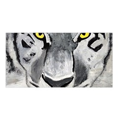 The Eye Of The Tiger Satin Shawl by timelessartoncanvas