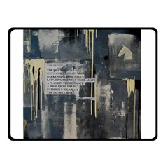 The Dutiful Rise Double Sided Fleece Blanket (small)  by timelessartoncanvas