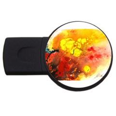 Fire, Lava Rock Usb Flash Drive Round (2 Gb)  by timelessartoncanvas