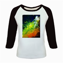 Abstract Landscape Kids Baseball Jerseys
