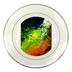 Abstract Landscape Porcelain Plates by timelessartoncanvas