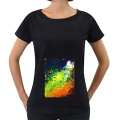 Abstract Landscape Women s Loose-Fit T-Shirt (Black) by timelessartoncanvas