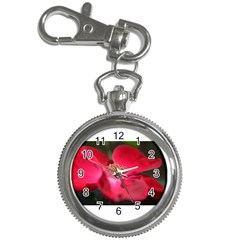 Bright Red Rose Key Chain Watches by timelessartoncanvas