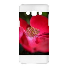 Bright Red Rose Samsung Galaxy A5 Hardshell Case  by timelessartoncanvas