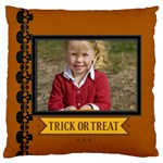 halloween - Large Flano Cushion Case (Two Sides)
