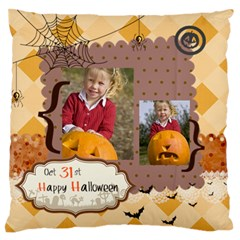 Halloween By Helloween   Large Flano Cushion Case (two Sides)   Uwl35box26p3   Www Artscow Com Back