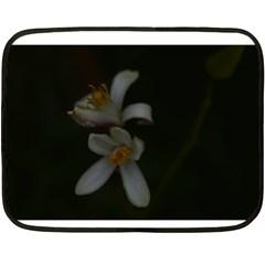 Lemon Blossom Double Sided Fleece Blanket (mini)  by timelessartoncanvas