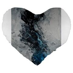 Ghostly Fog Large 19  Premium Flano Heart Shape Cushions by timelessartoncanvas
