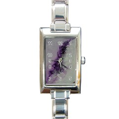 The Power Of Purple Rectangle Italian Charm Watches by timelessartoncanvas