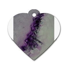 The Power Of Purple Dog Tag Heart (one Side) by timelessartoncanvas