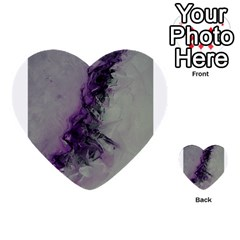 The Power Of Purple Multi Purpose Cards (heart)  by timelessartoncanvas