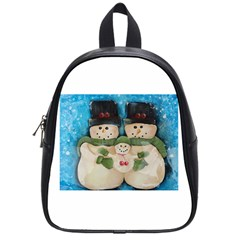 Snowman Family School Bags (small)  by timelessartoncanvas