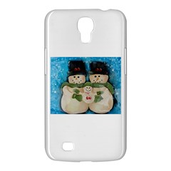 Snowman Family Samsung Galaxy Mega 6 3  I9200 Hardshell Case by timelessartoncanvas