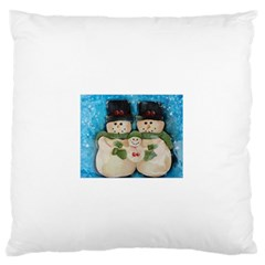 Snowman Family Standard Flano Cushion Cases (One Side)  by timelessartoncanvas