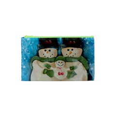 Snowman Family Cosmetic Bag (xs) by timelessartoncanvas