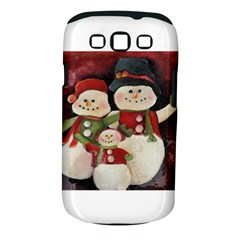 Snowman Family No. 2 Samsung Galaxy S III Classic Hardshell Case (PC+Silicone) by timelessartoncanvas