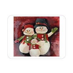 Snowman Family No  2 Double Sided Flano Blanket (mini)  by timelessartoncanvas