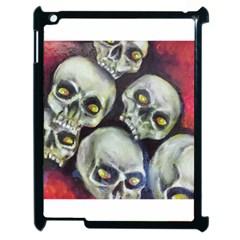 Halloween Skulls No 1 Apple Ipad 2 Case (black) by timelessartoncanvas