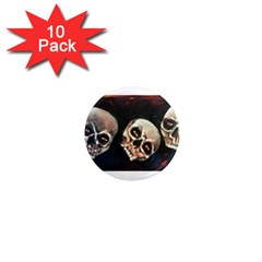Halloween Skulls No  2 1  Mini Magnet (10 Pack)  by timelessartoncanvas