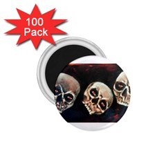 Halloween Skulls No  2 1 75  Magnets (100 Pack)  by timelessartoncanvas