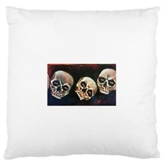 Halloween Skulls No  2 Large Flano Cushion Cases (two Sides)  by timelessartoncanvas