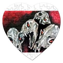 Halloween Skulls No  3 Jigsaw Puzzle (heart) by timelessartoncanvas