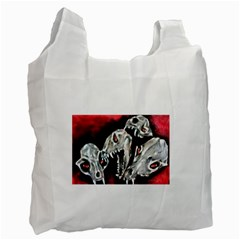 Halloween Skulls No  3 Recycle Bag (one Side)