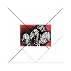 Halloween Skulls No  3 Acrylic Tangram Puzzle (6  X 6 ) by timelessartoncanvas