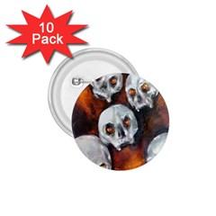 Halloween Skulls No  4 1 75  Buttons (10 Pack) by timelessartoncanvas