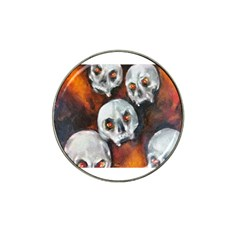Halloween Skulls No  4 Hat Clip Ball Marker by timelessartoncanvas