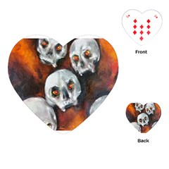Halloween Skulls No  4 Playing Cards (heart)  by timelessartoncanvas