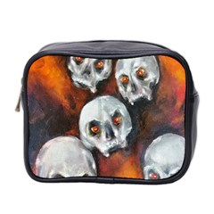 Halloween Skulls No. 4 Mini Toiletries Bag 2-Side by timelessartoncanvas