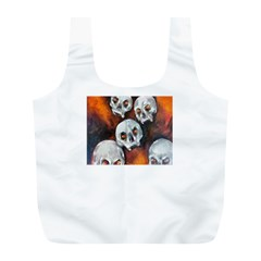 Halloween Skulls No  4 Full Print Recycle Bags (l)  by timelessartoncanvas