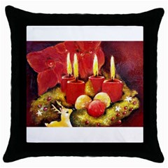 Holiday Candles  Throw Pillow Cases (black) by timelessartoncanvas