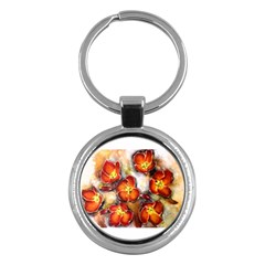 Fall Flowers Key Chains (round)  by timelessartoncanvas