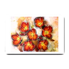 Fall Flowers Small Doormat  by timelessartoncanvas