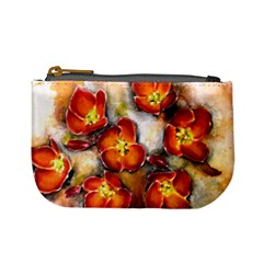 Fall Flowers Mini Coin Purses by timelessartoncanvas