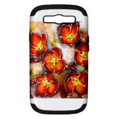 Fall Flowers Samsung Galaxy S III Hardshell Case (PC+Silicone) by timelessartoncanvas